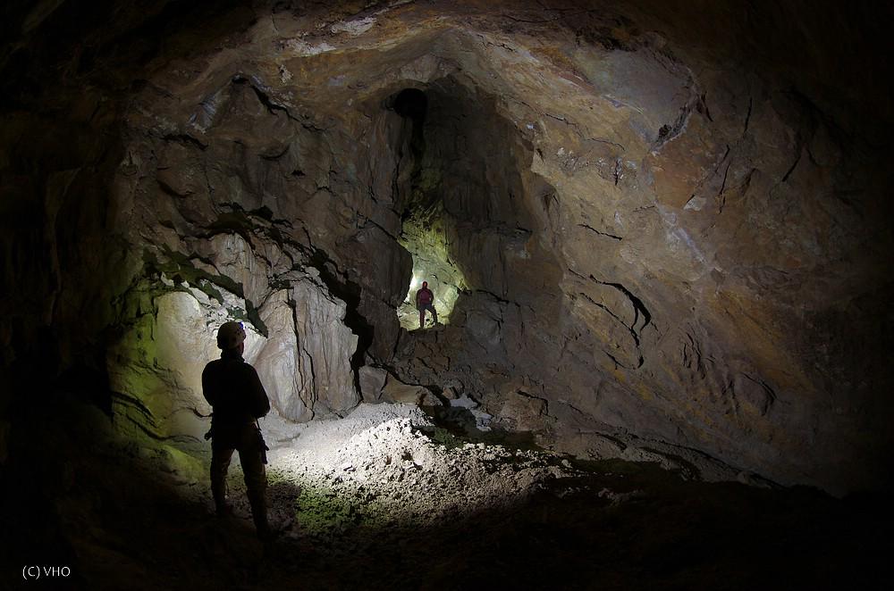 Die bisher größte Halle der Höhle in rund 75 m Tiefe.